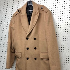 Express - Men's double breasted wool coat, size XL